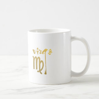 Falso símbolo del zodiaco del virgo de la hoja de taza