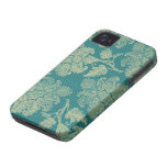 falso trullo del cordón y modelo floral poner crem Case-Mate iPhone 4 carcasa