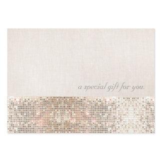 Falso vale de plata de la belleza de las tarjetas de visita grandes