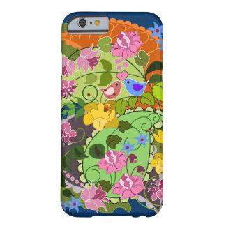 Falso vintage romántico colorido floral y funda de iPhone 6 barely there