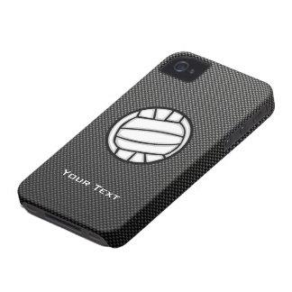 Falso voleibol de la fibra de carbono iPhone 4 Case-Mate protectores