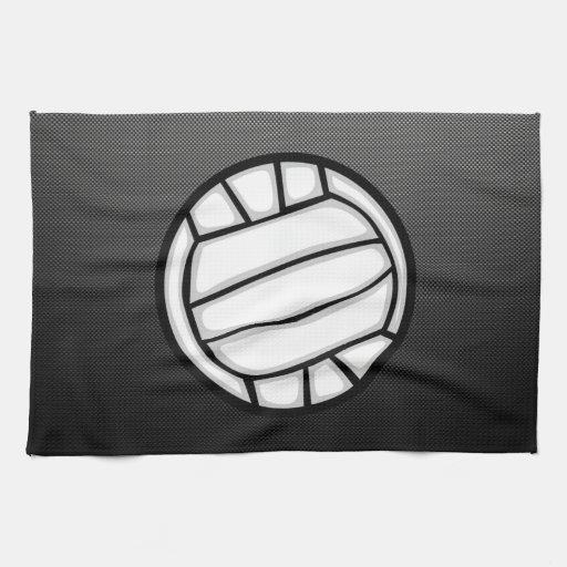 Falso voleibol de la fibra de carbono toallas de mano