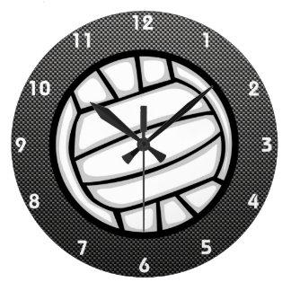 Falso voleibol de la fibra de carbono reloj redondo grande