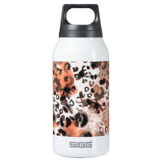 Falso Watercolour del leopardo Botella Isotérmica De Agua