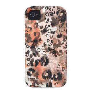 Falso Watercolour del leopardo Funda iPhone 4