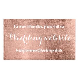 Falso Web site color de rosa de lujo del boda de Tarjetas De Visita