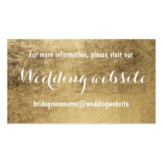 Falso Web site de lujo del boda de la hoja de oro Tarjetas De Visita