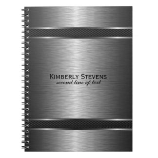 Falsos acentos negros grises metálicos elegantes notebook