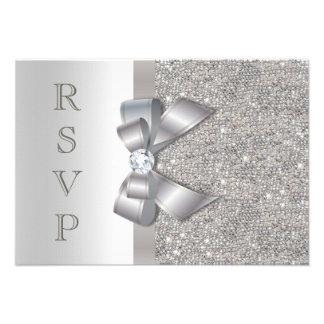 Falsos arco y diamantes de plata RSVP Anuncio