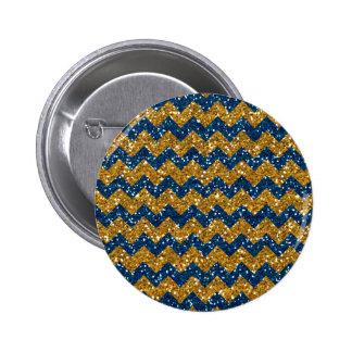 Falsos azules marinos Glitte del modelo de Chevron Pins