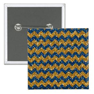 Falsos azules marinos Glitte del modelo de Chevron Pin