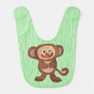 Falsos baberos del bebé del mono del fieltro del e