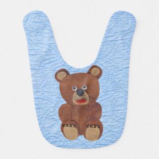 Falsos baberos del bebé del oso del fieltro del ed