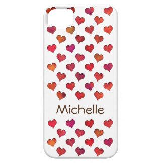 Falsos corazones cortados funda para iPhone 5 barely there