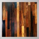 Falsos listones de madera del piso impresiones