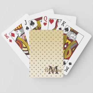 Falsos lunares brillantes impresionantes del oro d baraja de póquer