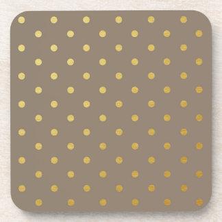 Falsos lunares Brown de color topo moderno de la Posavasos De Bebidas