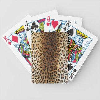 falsos naipes del estampado leopardo