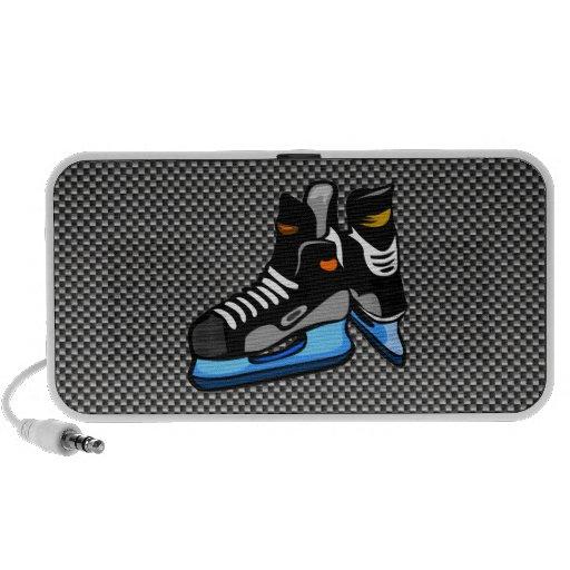 Falsos patines del hockey de la fibra de carbono notebook altavoz