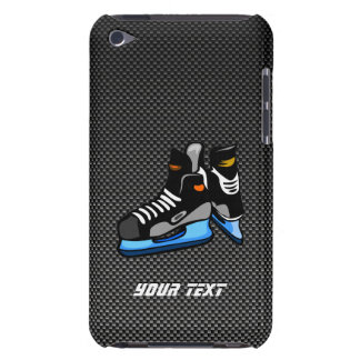 Falsos patines del hockey de la fibra de carbono iPod touch carcasas