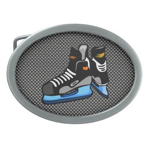 Falsos patines del hockey de la fibra de carbono hebillas cinturón