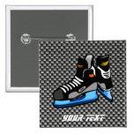 Falsos patines del hockey de la fibra de carbono pins