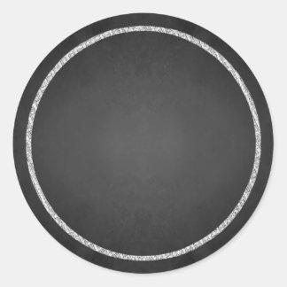 Falsos pegatinas en blanco adaptables de la pegatina redonda