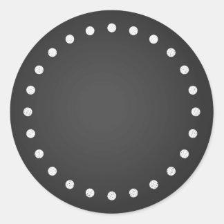 Falsos pegatinas en blanco adaptables de la etiqueta redonda