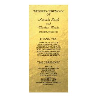 Falsos programas del boda de la hoja del oro elega plantillas de lonas