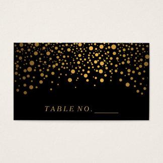 Falsos puntos del confeti del oro en tarjetas tarjetas de visita