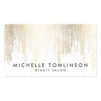 Falsos puntos elegantes del confeti del oro tarjetas de visita