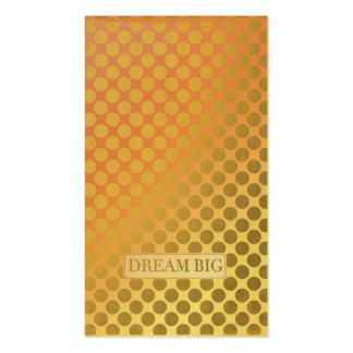 Falsos puntos grandes ideales del oro tarjetas de visita