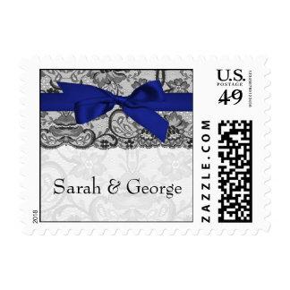 Falsos sellos del boda de los azules marinos del c