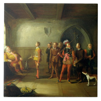 Falstaff and the Recruits, from 'Henry IV, Part II Ceramic Tile
