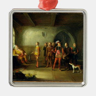 Falstaff and the Recruits, from 'Henry IV, Part II Metal Ornament