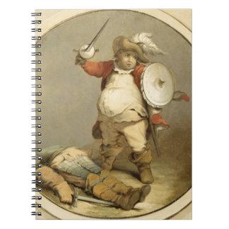 Falstaff con el cuerpo de Hotspur, c.1786 (aceite  Libros De Apuntes