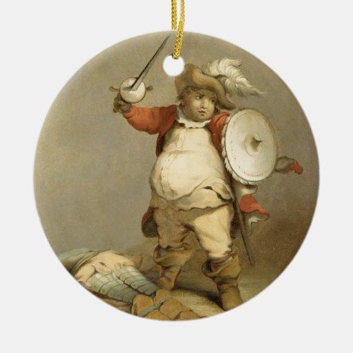 Falstaff con el cuerpo de Hotspur, c.1786 (aceite Adorno De Navidad