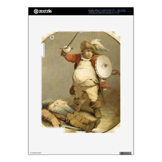 Falstaff con el cuerpo de Hotspur, c.1786 (aceite  iPad 3 Pegatina Skin