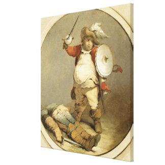 Falstaff con el cuerpo de Hotspur, c.1786 (aceite  Lona Estirada Galerías
