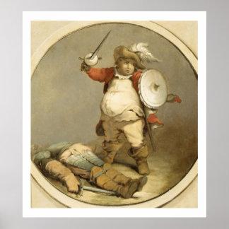 Falstaff con el cuerpo de Hotspur, c.1786 (aceite  Posters