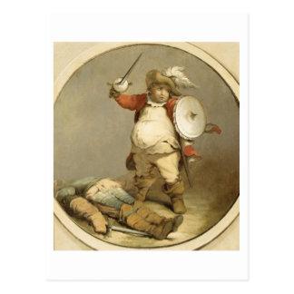 Falstaff con el cuerpo de Hotspur, c.1786 (aceite  Tarjeta Postal