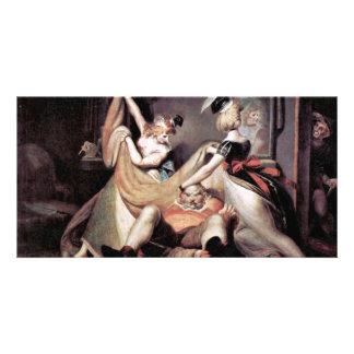 Falstaff In The Laundry Basket By Johann Heinrich Photo Card Template