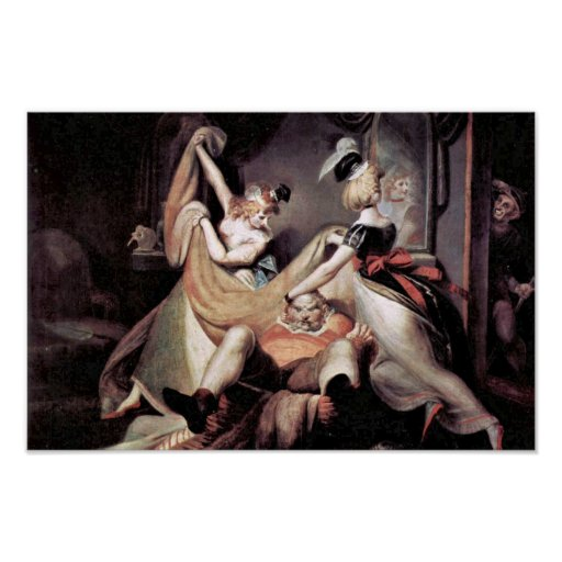 Falstaff In The Laundry Basket By Johann Heinrich Posters