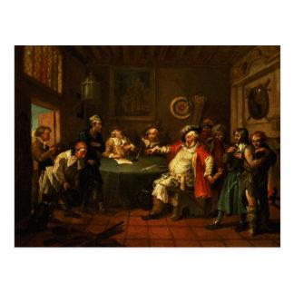 Falstaff que examina a sus reclutas del Enrique IV Postales