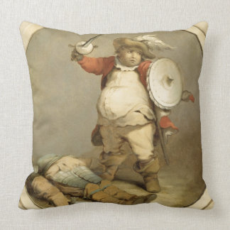 Falstaff with the Body of Hotspur, c.1786 (oil on Throw Pillows