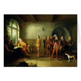 Falstaff y los reclutas, del 'Enrique IV, parte II Tarjeta De Felicitación