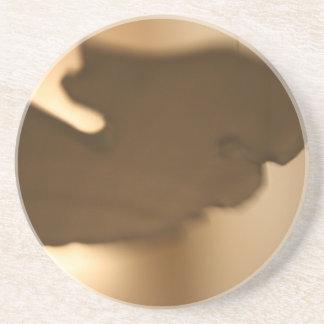 Falta de definición abstracta de tintes marrones posavasos diseño
