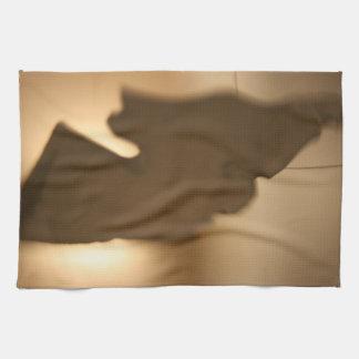 Falta de definición abstracta de tintes marrones toallas de cocina