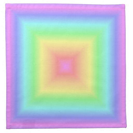 Falta de definición abstracta en colores pastel de servilletas de papel