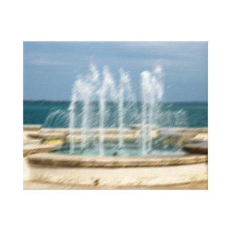 Falta de definición coralina del bosquejo del agua impresiones en lona estiradas